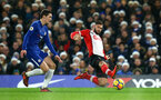 LONDON, ENGLAND - DECEMBER 16: LtoR Andreas Christensen of Chelsea FC goes after Charlie Austin of Southampton during the Premier League match between Chelsea and Southampton FC at Stamford Bridge on December 16, 2017 in London, England. (Photo by James Bridle - Southampton FC/Southampton FC via Getty Images)