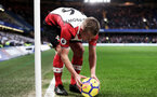 LONDON, ENGLAND - DECEMBER 16: James Ward-Prowse during the Premier League match between Chelsea and Southampton at Stamford Bridge on December 16, 2017 in London, England. (Photo by Matt Watson/Southampton FC via Getty Images)
