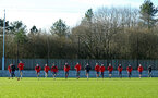 SOUTHAMPTON, ENGLAND - DECEMBER 28: Southampton FC players during a Southampton FC training session at Staplewood Complex on December 28, 2017 in Southampton, England. (Photo by James Bridle - Southampton FC/Southampton FC via Getty Images)