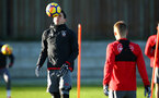 SOUTHAMPTON, ENGLAND - DECEMBER 28: Pierre-Emile H¿jbjerg (left) during a Southampton FC training session at Staplewood Complex on December 28, 2017 in Southampton, England. (Photo by James Bridle - Southampton FC/Southampton FC via Getty Images) SOUTHAMPTON, ENGLAND - DECEMBER 28: Pierre-Emile Højbjerg (left) during a Southampton FC training session at Staplewood Complex on December 28, 2017 in Southampton, England. (Photo by James Bridle - Southampton FC/Southampton FC via Getty Images)