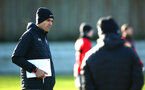 SOUTHAMPTON, ENGLAND - DECEMBER 28: Mauricio Pellegrino (left) during a Southampton FC training session at Staplewood Complex on December 28, 2017 in Southampton, England. (Photo by James Bridle - Southampton FC/Southampton FC via Getty Images)