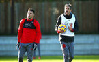 SOUTHAMPTON, ENGLAND - DECEMBER 28: LtoR Dusan Tadi?, Mauricio Pellegrino during a Southampton FC training session at Staplewood Complex on December 28, 2017 in Southampton, England. (Photo by James Bridle - Southampton FC/Southampton FC via Getty Images) SOUTHAMPTON, ENGLAND - DECEMBER 28: LtoR Dusan Tadić, Mauricio Pellegrino during a Southampton FC training session at Staplewood Complex on December 28, 2017 in Southampton, England. (Photo by James Bridle - Southampton FC/Southampton FC via Getty Images)