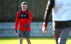 SOUTHAMPTON, ENGLAND - DECEMBER 28: Jake Hesketh (left) during a Southampton FC training session at Staplewood Complex on December 28, 2017 in Southampton, England. (Photo by James Bridle - Southampton FC/Southampton FC via Getty Images)