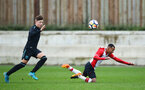 SOUTHAMPTON, ENGLAND - JANUARY 06: Harlem Hale (right) during the PL2 match between Southampton FC and West Ham United FC at Staplewood Complex on January 6, 2018 in Southampton, England. (Photo by James Bridle - Southampton FC/Southampton FC via Getty Images)