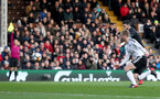 LONDON, ENGLAND - JANUARY 06: Shane Long of Southampton shoots and scores but is ruled out for offside during the Emirates FA Cup third round match between Fulham FC and Southampton FC at Craven Cottage on January 6, 2018 in London, England. (Photo by Matt Watson/Southampton FC via Getty Images)