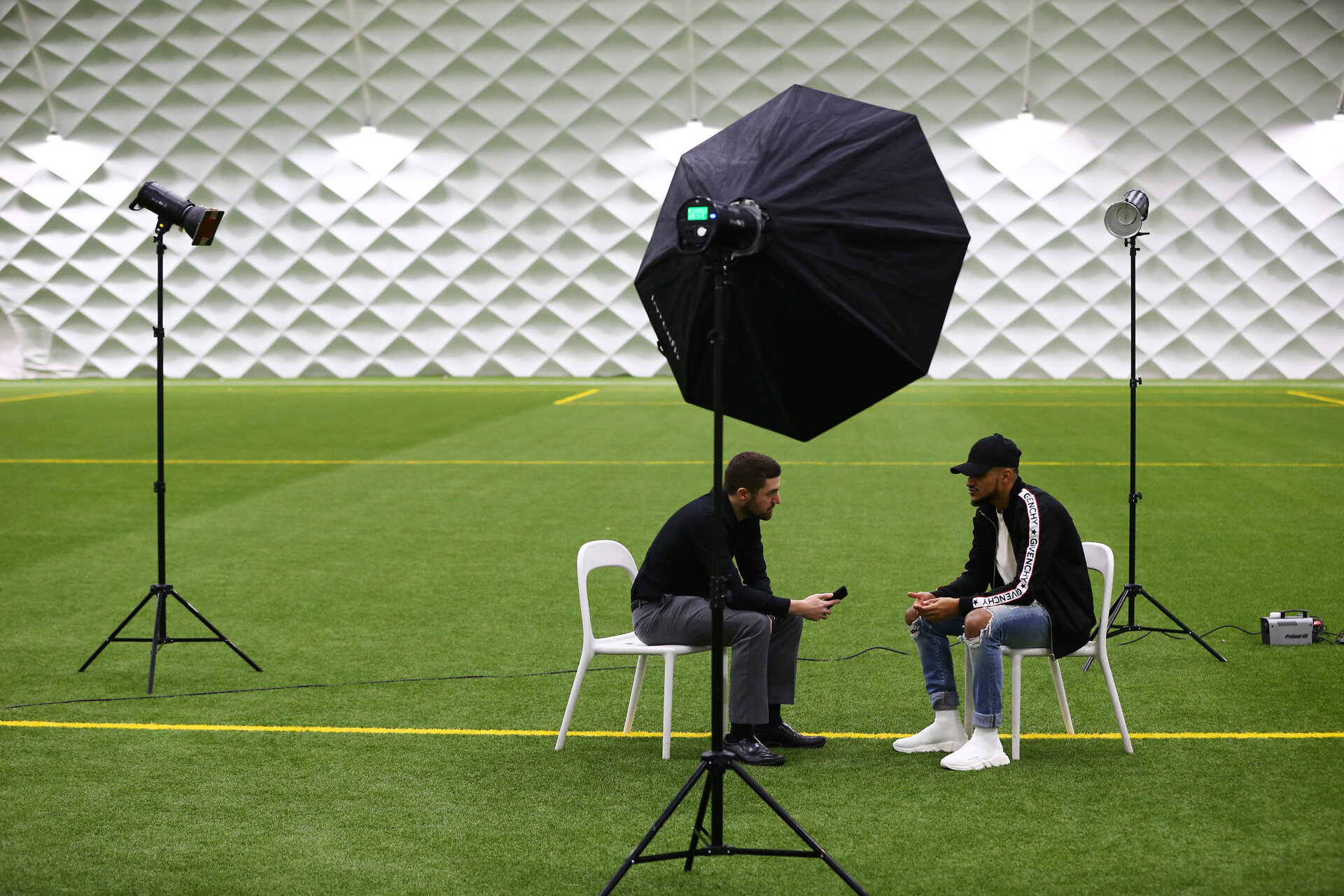 SOUTHAMPTON, ENGLAND - JANUARY 11: Sofiane Boufal behind the scenes during a Match Day Program shoot at Staplewood Complex on January 11, 2018 in Southampton, England. (Photo by James Bridle - Southampton FC/Southampton FC via Getty Images)