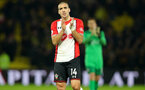 WATFORD, ENGLAND - JANUARY 13: Oriol Romeu of Southampton during the Premier League match between Watford and Southampton at Vicarage Road on January 13, 2018 in Watford, England. (Photo by Matt Watson/Southampton FC via Getty Images)