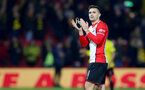 WATFORD, ENGLAND - JANUARY 13: Dusan Tadic of Southampton during the Premier League match between Watford and Southampton at Vicarage Road on January 13, 2018 in Watford, England. (Photo by Matt Watson/Southampton FC via Getty Images)