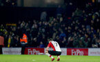 WATFORD, ENGLAND - JANUARY 13: Shane Long of Southampton, dejected during the Premier League match between Watford and Southampton at Vicarage Road on January 13, 2018 in Watford, England. (Photo by Matt Watson/Southampton FC via Getty Images)