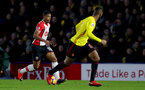 WATFORD, ENGLAND - JANUARY 13: Mario Lemina of Southampton during the Premier League match between Watford and Southampton at Vicarage Road on January 13, 2018 in Watford, England. (Photo by Matt Watson/Southampton FC via Getty Images)