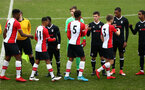 SOUTHAMPTON, ENGLAND - JANUARY 20: Teams shake hands before Kick off for an U18 Premier League match between Southampton FC and Fulham FC at Staplewood Complex on January 230, 2018 in Southampton, England. (Photo by James Bridle - Southampton FC/Southampton FC via Getty Images)