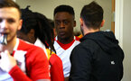 SOUTHAMPTON, ENGLAND - JANUARY 27: Jonathan Afolbai (middle) ahed of the match between Southampton FC and Leicester FC U18s at Leicester FC Training ground on January 27, 2018 in Southampton, England. (Photo by James Bridle / Southampton FC via Getty Images)