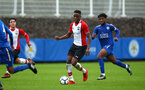 SOUTHAMPTON, ENGLAND - JANUARY 27: Jonathan Afolabi (middle) during the match between Southampton FC and Leicester FC U18s at Leicester FC Training ground on January 27, 2018 in Southampton, England. (Photo by James Bridle / Southampton FC via Getty Images)