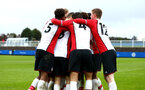SOUTHAMPTON, ENGLAND - JANUARY 27: Southampton FC celebrate during the match between Southampton FC and Leicester FC U18s at Leicester FC Training ground on January 27, 2018 in Southampton, England. (Photo by James Bridle / Southampton FC via Getty Images)