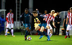 STOKE, ENGLAND - JANUARY 29: Michael Obafemi, Jake Hesketh during the match between Southampton FC and Stoke City FC U23s at St Georges Park Training Ground on January 29, 2018 in Southampton, England. (Photo by James Bridle / Southampton FC via Getty Images)