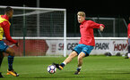 STOKE, ENGLAND - JANUARY 29: Aaron OÕDriscoll (middle) during the match between Southampton FC and Stoke City FC U23s at St Georges Park Training Ground on January 29, 2018 in Southampton, England. (Photo by James Bridle / Southampton FC via Getty Images) STOKE, ENGLAND - JANUARY 29: Aaron O'Driscoll (middle) during the match between Southampton FC and Stoke City FC U23s at St Georges Park Training Ground on January 29, 2018 in Southampton, England. (Photo by James Bridle / Southampton FC via Getty Images)