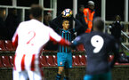 STOKE, ENGLAND - JANUARY 29: Yan Valery (middle) during the match between Southampton FC and Stoke City FC U23s at St Georges Park Training Ground on January 29, 2018 in Southampton, England. (Photo by James Bridle / Southampton FC via Getty Images)