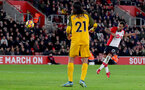 SOUTHAMPTON, ENGLAND - JANUARY 31: Ryan Bertrand of Southampton FC shoots over during the Premier League match between Southampton and Brighton and Hove Albion at St Mary's Stadium on January 31, 2018 in Southampton, England. (Photo by Matt Watson/Southampton FC via Getty Images)