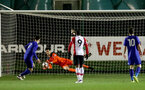 Kingsley Latham saves a penalty during the U23 PL Cup between Southampton and Cardiff City, pictured at the Staplewood Campus, Southampton, 9th February 2018