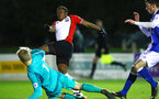 SOUTHAMPTON, ENGLAND - FEBRUARY 26: Michael Obafemi (Left) during the U23s match between Southampton FC and Blackburn FC, PLCup match on February 26, 2018 in Leyland in Blackburn, England. (Photo by James Bridle - Southampton FC/Southampton FC via Getty Images)