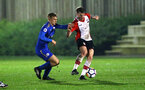 SOUTHAMPTON, ENGLAND - MARCH 16: Callum Slattery (right) during the U23's match between Southampton FC and Leicester City FC at Staplewood Complex on March 16, 2018 in Southampton, England. (Photo by James Bridle - Southampton FC/Southampton FC via Getty Images)