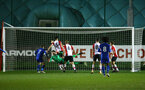 SOUTHAMPTON, ENGLAND - MARCH 16: Leicester City score during the U23's match between Southampton FC and Leicester City FC at Staplewood Complex on March 16, 2018 in Southampton, England. (Photo by James Bridle - Southampton FC/Southampton FC via Getty Images)