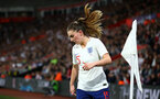 SOUTHAMPTON, ENGLAND - APRIL 06: Melissa Lawley during the England Lionesses vs Wales Womens match at St Mary's Stadium on April 6, 2018 in Southampton, England. (Photo by James Bridle - Southampton FC/Southampton FC via Getty Images)