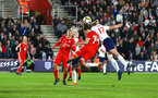 SOUTHAMPTON, ENGLAND - APRIL 06: Ellen White (right) during the Women's World Cup Qualifier match between England and Wales match at St Mary's Stadium on April 6, 2018 in Southampton, England. (Photo by James Bridle - Southampton FC/Southampton FC via Getty Images)