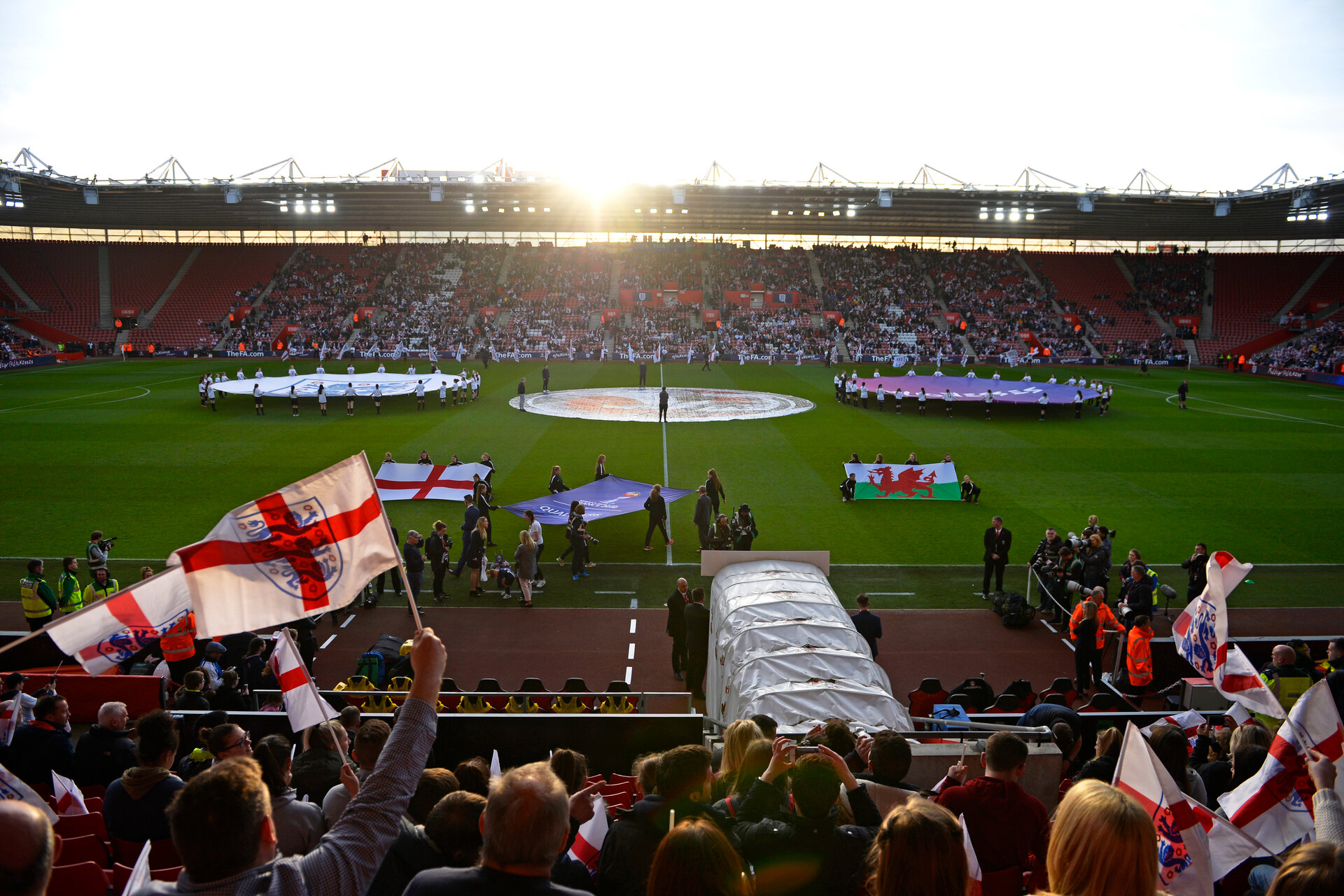 SOUTHAMPTON, ENGLAND - APRIL 06: General view ahead of the Women's World Cup Qualifier match between England and Wales match at St Mary's Stadium on April 6, 2018 in Southampton, England. (Photo by James Bridle - Southampton FC/Southampton FC via Getty Images)