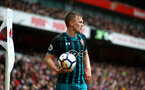 LONDON, ENGLAND - APRIL 08: James Ward-Prowse (middle) of Southampton FC during the Premier League match between Arsenal and Southampton at Emirates Stadium on April 8, 2018 in London, England. (Photo by James Bridle - Southampton FC/Southampton FC via Getty Images)