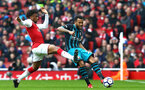 LONDON, ENGLAND - APRIL 08: SouthamptonÕs Ryan Bertrand (right) takes on Alex Iwobi (left) during the Premier League match between Arsenal and Southampton at Emirates Stadium on April 8, 2018 in London, England. (Photo by James Bridle - Southampton FC/Southampton FC via Getty Images) LONDON, ENGLAND - APRIL 08: Southampton's Ryan Bertrand (right) takes on Alex Iwobi (left) during the Premier League match between Arsenal and Southampton at Emirates Stadium on April 8, 2018 in London, England. (Photo by James Bridle - Southampton FC/Southampton FC via Getty Images)
