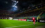 james ward prowse takes a corner during the UEFA Europa League match between Inter Milan and Southampton FC at San Siro, Milan, Italy on 20 October 2016. Photo by Naomi Baker/SFC/Digital South.