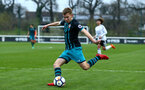 SOUTHAMPTON, ENGLAND - APRIL 13: Jake Vokins during the PL2 Match between Fulham FC and Southampton FC on April 12, 2018 in Fulham London, England. (Photo by James Bridle - Southampton FC/Southampton FC via Getty Images)