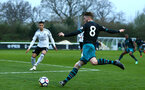 SOUTHAMPTON, ENGLAND - APRIL 13: Callum Slattery (right) during the PL2 Match between Fulham FC and Southampton FC on April 12, 2018 in Fulham London, England. (Photo by James Bridle - Southampton FC/Southampton FC via Getty Images)