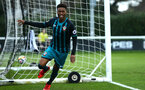 SOUTHAMPTON, ENGLAND - APRIL 13: Nathan Tella scores during the PL2 Match between Fulham FC and Southampton FC on April 12, 2018 in Fulham London, England. (Photo by James Bridle - Southampton FC/Southampton FC via Getty Images)