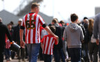 SOUTHAMPTON, ENGLAND - APRIL 14: Southampton FC fans ahead of the Premier League match between Southampton and Chelsea at St Mary's Stadium on April 14, 2018 in Southampton, England. (Photo by Chris Moorhouse/Southampton FC via Getty Images)