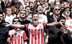 SOUTHAMPTON, ENGLAND - APRIL 14: Saints fans during the Premier League match between Southampton and Chelsea at St Mary's Stadium on April 14, 2018 in Southampton, England. (Photo by Matt Watson/Southampton FC via Getty Images)
