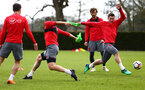 SOUTHAMPTON, ENGLAND - APRIL 17: LtoR Oriol Romeu, Pierre-Emile H¿jbjerg during a Southampton FC training session at Staplewood Complex on April 17, 2018 in Southampton, England. (Photo by James Bridle - Southampton FC/Southampton FC via Getty Images) SOUTHAMPTON, ENGLAND - APRIL 17: LtoR Oriol Romeu, Pierre-Emile Højbjerg during a Southampton FC training session at Staplewood Complex on April 17, 2018 in Southampton, England. (Photo by James Bridle - Southampton FC/Southampton FC via Getty Images)