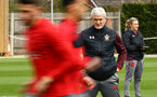 SOUTHAMPTON, ENGLAND - APRIL 17: Mark Hughes (right) during a Southampton FC training session at Staplewood Complex on April 17, 2018 in Southampton, England. (Photo by James Bridle - Southampton FC/Southampton FC via Getty Images)