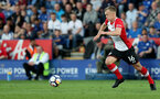 LEICESTER, ENGLAND - APRIL 19: James Ward-Prowse of Southampton during the Premier League match between Leicester City and Southampton at The King Power Stadium on April 19, 2018 in Leicester, England. (Photo by Matt Watson/Southampton FC via Getty Images)