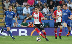 LEICESTER, ENGLAND - APRIL 19: Jan Bednarek of Southampton during the Premier League match between Leicester City and Southampton at The King Power Stadium on April 19, 2018 in Leicester, England. (Photo by Matt Watson/Southampton FC via Getty Images)