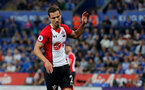 LEICESTER, ENGLAND - APRIL 19: Cedric of Southampton during the Premier League match between Leicester City and Southampton at The King Power Stadium on April 19, 2018 in Leicester, England. (Photo by Matt Watson/Southampton FC via Getty Images)
