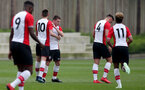 Harrison Davis of Southampton celebrates after equalising during the U18 premier league match between Southampton and Aston Villa, at the Staplewood Campus, Southampton, 21st April 2018