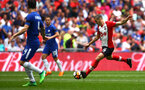 LONDON, ENGLAND - APRIL 22: Oriol Romeu (right) of Southampton FC during the Semi Final of the Emirates FA Cup between Southampton FC and Chelsea FC at Wembley Stadium on April 22, 2018 in London, England. (Photo by James Bridle - Southampton FC/Southampton FC via Getty Images)