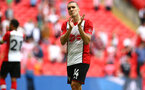 LONDON, ENGLAND - APRIL 22: Oriol Romeu of Southampton FC after the final whistle is blown for the the Semi Final of the Emirates FA Cup between Southampton FC and Chelsea FC at Wembley Stadium on April 22, 2018 in London, England. (Photo by James Bridle - Southampton FC/Southampton FC via Getty Images)