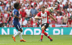 LONDON, ENGLAND - APRIL 22: Wesley Hoedt of Southampton during the Emirates FA Cup Semi-Final between Chelsea and Southampton, at Wembley Stadium on April 22, 2018 in London, England. (Photo by Matt Watson/Southampton FC via Getty Images)