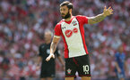 LONDON, ENGLAND - APRIL 22: Charlie Austin of Southampton during the Emirates FA Cup Semi-Final between Chelsea and Southampton, at Wembley Stadium on April 22, 2018 in London, England. (Photo by Matt Watson/Southampton FC via Getty Images)