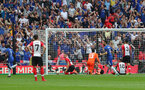 LONDON, ENGLAND - APRIL 22: Chelsea score during the Emirates FA Cup Semi-Final between Chelsea and Southampton, at Wembley Stadium on April 22, 2018 in London, England. (Photo by Matt Watson/Southampton FC via Getty Images)