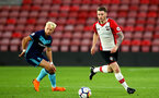 SOUTHAMPTON, ENGLAND - APRIL 23: Callum Slattery (right) during the PL2 match between Southampton FC and Middlesbrough FC atSt Mary's Stadium on April 23, 2018 in Southampton, England. (Photo by James Bridle - Southampton FC/Southampton FC via Getty Images)