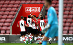 SOUTHAMPTON, ENGLAND - APRIL 23: Alfie Jones scores (middle) during the PL2 match between Southampton FC and Middlesbrough FC atSt Mary's Stadium on April 23, 2018 in Southampton, England. (Photo by James Bridle - Southampton FC/Southampton FC via Getty Images)